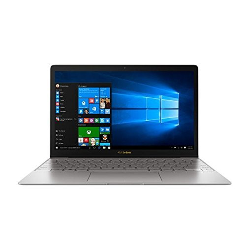 "ASUS ZenBook 3 UX390UA 12.5"" Ultraportable Laptop Intel Core i5-7200U KabyLake 8GB RAM 256GB SSD with Fingerprint Sensor and Harman Karson Audio, Silver Gray"
