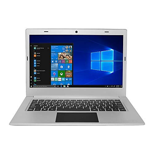 "EVOO EV-C-125-3-SL 12.5"" HD Ultra Slim Laptop, Intel Celeron Quad Core CPU, 3GB RAM, 32GB Storage, Fingerprint Scanner, Silver"